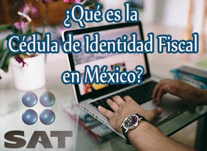 cedula de identidad fiscal sat mexico